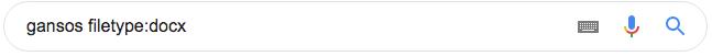 """Utilização do operador de pesquisa """"filetype:"""""""