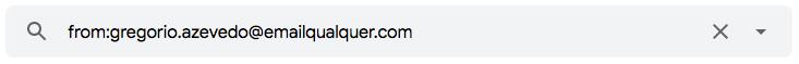 Como utilizar um operador de pesquisa para encontrar e-mails enviados por um remetente