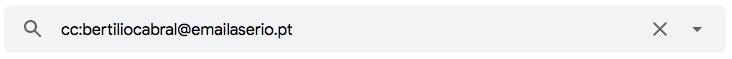 """Como utilizar o operador de pesquisa """"cc:"""" para encontrar e-mails enviados como cópia"""