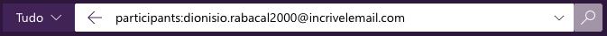 """Como encontrar e-mails enviados no Outlook com o operador de pesquisa """"participants:"""""""