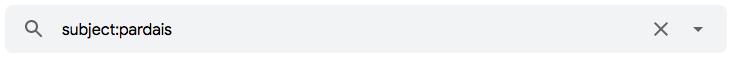 """Como pesquisar no assunto de uma mensagem usando o operador de pesquisa de e-mail """"subject:"""""""