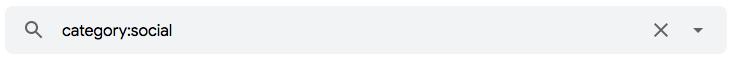"""Como encontrar mensagens nas categorias do Gmail com o operador de pesquisa de e-mail """"category:"""""""