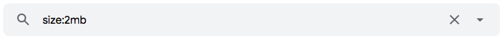 """Como pesquisar mensagens por tamanho com o operador de pesquisa """"size:"""" no Gmail"""