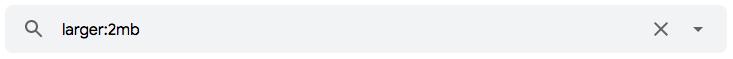 """Pesquisar e-mails por tamanho no Gmail através do operador de pesquisa """"larger:"""""""
