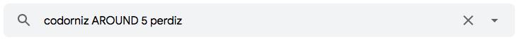 """Como utilizar o operador de pesquisa do Gmail """"AROUND"""" para encontrar e-mais que contenham termos distanciados por uma quantidade máxima de palavras"""