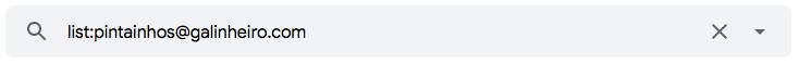 """Como encontrar mensagens de uma lista de correio eletrónico utilizando o operador de pesquisa de e-mail """"list:"""" no Gmail"""